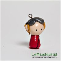 Dr. Horrible Evil Phone Charm by Lameasaurus-etsy