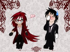 Those Characters, Flirtacious and Embarassed by flamingchibi