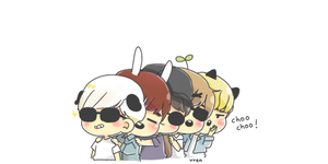 shinee train by keyandsnickers