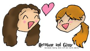 Hermione Ginny by SmileWhenDead