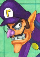 Waluigi Sketch Card by cuky04