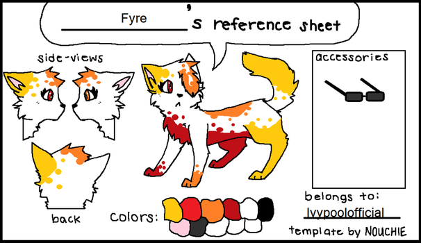 Fyre refrence sheet by Ivypoolofficial