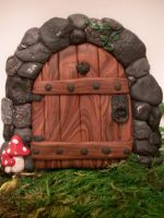 1st Stone Arch Fairy Door by FlyingFrogCreations