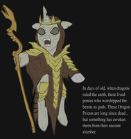 Ponified Skyrim loading screen: Dragon Priest by glue123