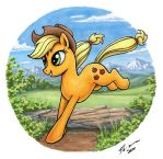 Applejack in Marker by Choedan-Kal