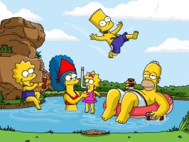 Simpsons Shaded by joose2001