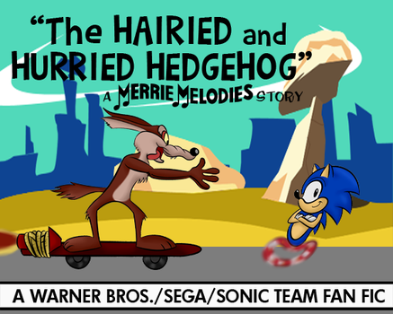 Sonic/Wile E. Hedgehog Lobby Card (Color, V2) by LooneyTunerIan