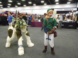 wolf link with link by samajula
