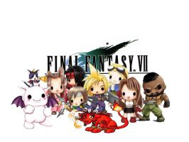 Chibi Final Fantasy VII by Agent-Saren