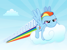 Beep Beep, I'm A Cloud Wallpaper by steffy-beff