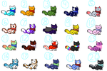 Kitten Adoptables BOATLOAD Batch 1 (Reupload) by pink11219