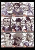 Captain America Sketchcards 1 by Guy-Bigbelly
