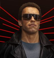 Lifesize Terminator bust by godaiking