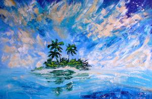 Pacific Island Sea Painting Ekaterina Chernova by EkaterinaChernova