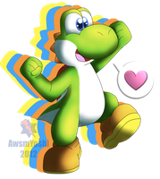 Just Yoshi being Yoshi by AwsmYoshi