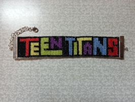 Teen Titans bracelet - cross stitch by Nancy171112
