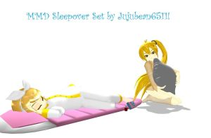 MMD Sleepover Accessory Set by Jujubean6511 by jujubean6511