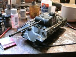Tamiya 1/35 Panther A wip 5 by DelosQAndrews