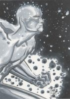 Silver Surfer sketch card by idirt