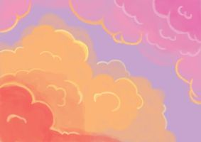 Practicing clouds for the first time. :/ by Kukiru