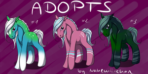 Horse Adopts - CLOSED by Nahemii-chan