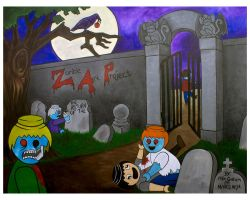 Zombie Art Project year 2 by zombiemonkie