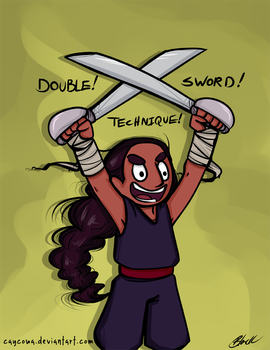Steven Universe - Connie Double Sword Technique by caycowa