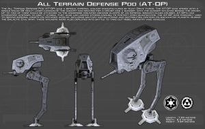 All Terrain - Defense Pod (AT-DP) ortho [New] by unusualsuspex
