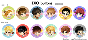 EXO Buttons by kimchii