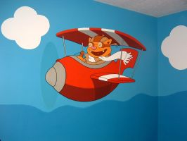 Mural-Pilot Cat by Hobbit1978