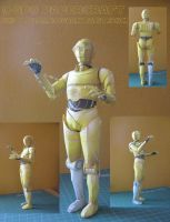 Star Wars - C-3PO Papercraft by kotlesiu