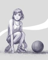 basketball girl by yoshikattyu