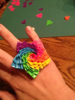 Rainbow Star Duct Tape Ring by LishaChan