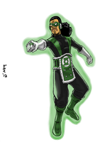 Green Lantern Usopp by GarthTheUndying