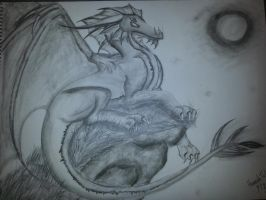 Dragon Finished by LunaSolctice