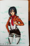 The Book.04- Mikasa Ackerman by lEnidel