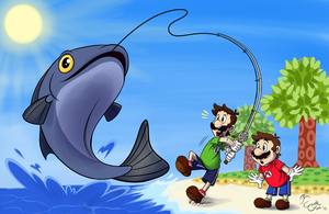 Luigi's Summer Catch by EarthGwee