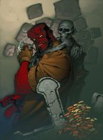Hellboy Sketch Paints by ChristopherStevens