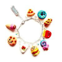 Fast Food Charm Bracelet by LittleMissDelicious