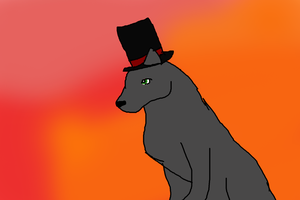 lol wolf with a top hat by Decker-Matty