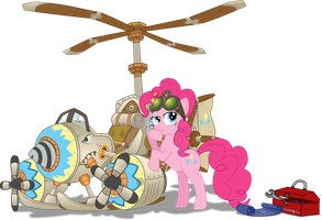 Pinkie and her crazy contraption Mark II by Starbolt-81