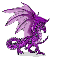 Amethyst Dragon design by Scatha-the-Worm
