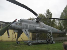 Mi-10 heavy transport helicopter by nikitakartinginboxru