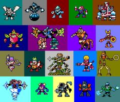 Robot Master Fusions by Junkyard-lurker