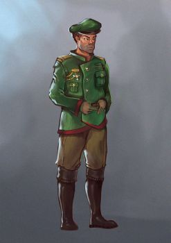 Military Officer - Sketch by VictorLafaye