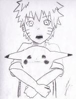 Pokemon and NARUTO by MEGANS64