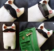 Moustache Kitty Cat Cozy by Shlii
