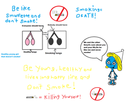 Say yes to Smurfette,Say no to smoking! by Smurfette123