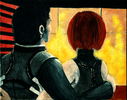 Kaidan and Shepard by Lycantheropa