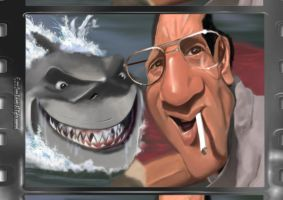 Caricature Movie Moment - JAWS by Steveroberts